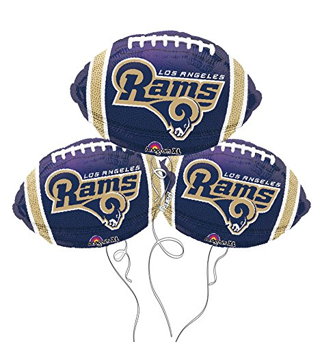 Los Angeles Rams NFL Football Mylar Balloon - 3 Pack