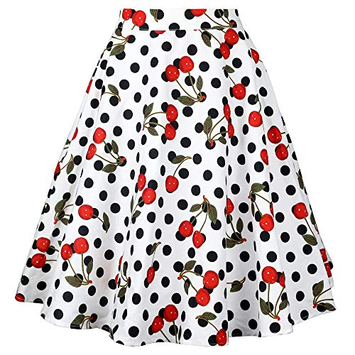 - Tailloday 1950's Vintage Full Circle Pleated Floral A Line Midi Skirt (L, Multi-16)