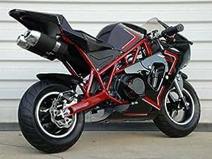 50rr 2 stroke gas pocket bike mini bike. Black Bedroom Furniture Sets. Home Design Ideas
