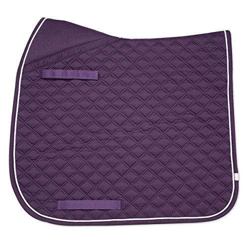 Union Hill Dressage Pad (Lettia CoolMax ProSeries Dressage Pad Plum/White)