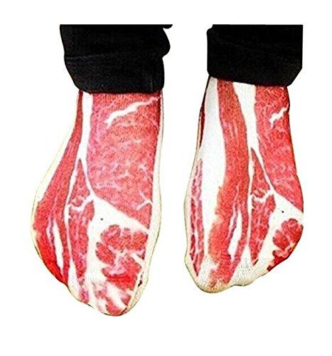 Huertuer Uni-S/öckchen f/ür Herren und Damen witziges Schweinefleisch-Muster aus Baumwolle, niedriger Schnitt rot und wei/ß