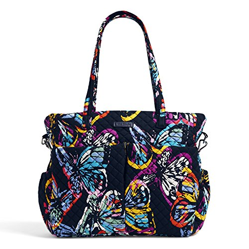 Vera Bradley Iconic Ultimate Baby Bag, Signature Cotton, Butterfly Flutt