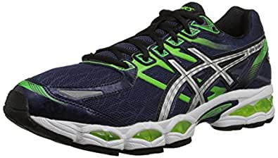 ASICS Men's Gel-Evate 3 Running Shoe,Midnight/Lightning/Flash Green,8 M US