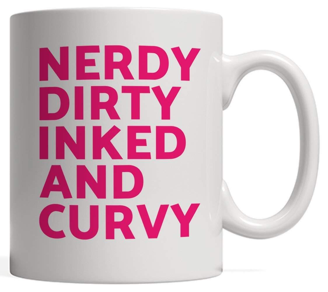 Mug Café,Regalo Feminista Divertido | Nerdy Dirty Inked and Curvy ...