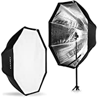 CRAPHY 47/120cm Octagonal Speedlite, Studio Flash Soft Box, Foldable Umbrella Reflector with Carrying Bag for Portrait or Product Photography