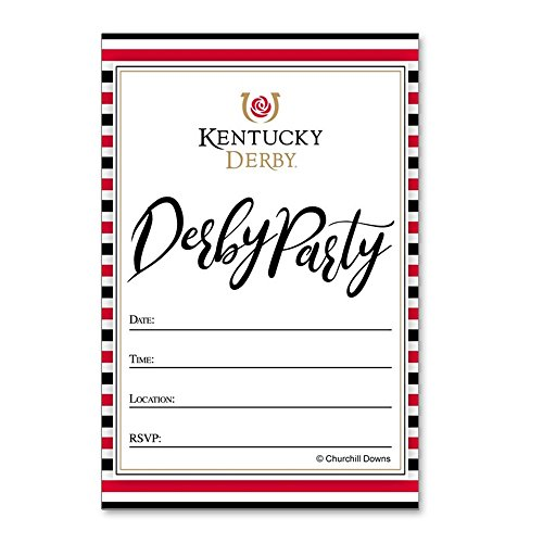 CafePress - Kentucky Derby Party Striped Invitation Postcards - Postcards (Package of 8), 6