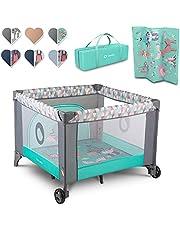 Lionelo Fie Kinder reisbox 100 x 100 x 76 cm Voor kinderen tot 15 kg Ideaal voor thuis en op vakantie Veilig vouwsysteem Tas inbegrepen