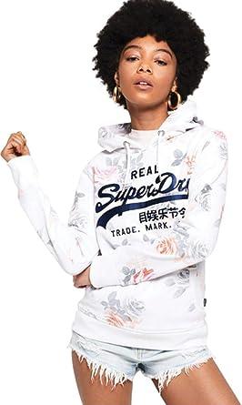 Superdry Sweat Vintage Logo Photo Rose AOP Femme Optic