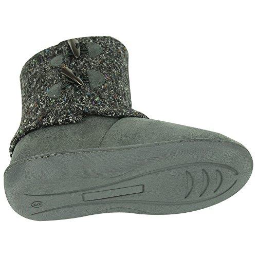 Forfoot Indoor Women Slippers Winter Warm Soft Fleece Bootie Slippers House Shoes Dark Grey fkFUjA