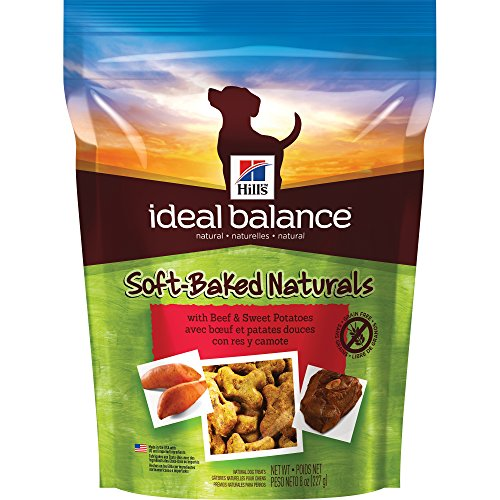 Hill's Ideal Balance Grain Free Dog Treats, Soft-Baked Naturals with Beef & Sweet Potatoes Soft Dog Treats, Healthy Dog Treats, 8 oz (Baked Dog Treats)