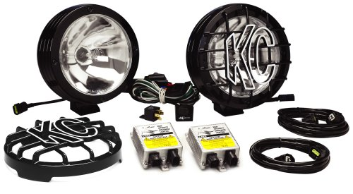 KC HiLiTES 861 Rally 800 Series Black Coated Stainless Steel 50w HID Spot Beam Light System (Rally 800 Series)
