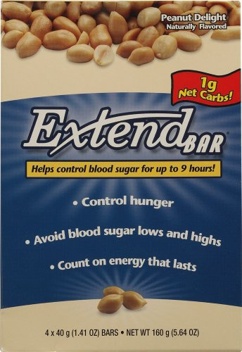 ExtendSnacks ExtendBar Peanut Delight — 1 Box Each / Pack of 4 For Sale