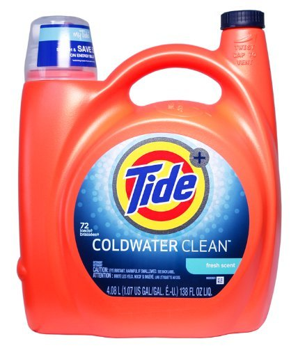 Tide Coldwater Fresh Scent laundry detergent 138oz (72 Loads Total) - Tide Total Care