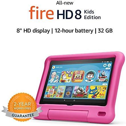 "Fire HD 8 Kids Edition pill, 8"" HD show, 32 GB, Pink Kid-Proof Case"
