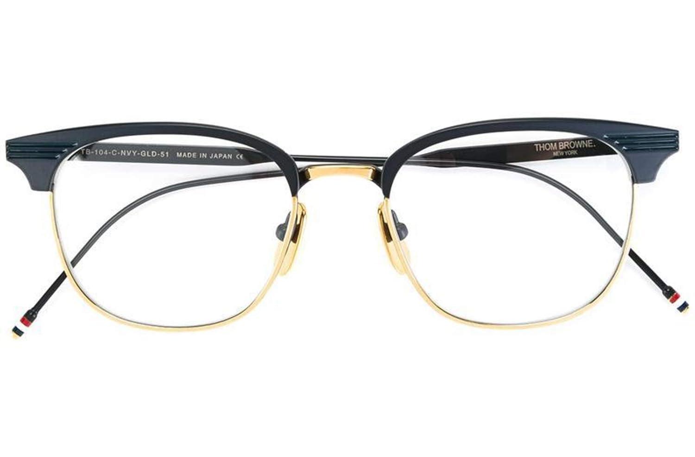 5e30d7e08d5 Eyeglasses THOM BROWNE TB 104 C-NVY-GLD Matte Navy18K Gold  Amazon.co.uk   Clothing