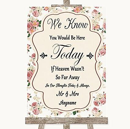 Cartel de boda vintage con diseño de rosas en el cielo ...