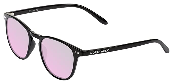 Northweek Wall Catalina, Gafas de sol Unisex, Shine Black, 45