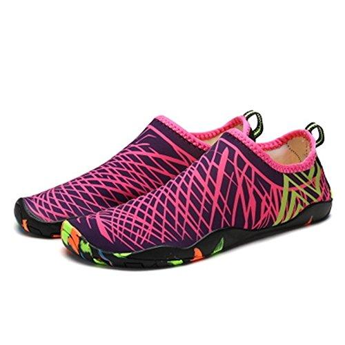 Zapatos Violeta Antideslizante De Piel Elástica JUNHONGZHANG Calzado Descalzo Playa Caminadora Zapatos Fitness Nadar Yoga Zapatos t6wPTq