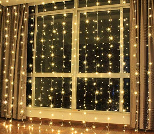 ZSTBT UL Safe 304 LED 9.8Feet Connectable Curtain Lights Icicle Lights Fairy String Lights with 8 Modes for Wedding Party Family Patio Lawn Decoration by ZSTBT (Image #4)