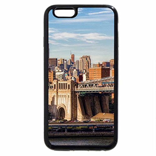 iPhone 6S Case, iPhone 6 Case (Black & White) - east side view of manhattan