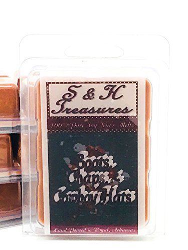 (Boots, Chaps and Cowboy Hats - Pure Soy Wax Melts - Masculine Scents - 1 pack (6 cubes) )