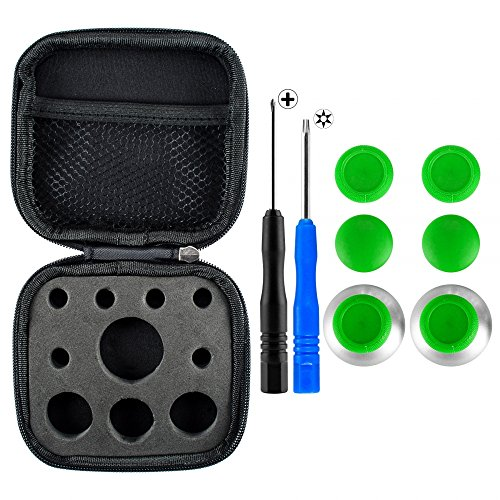 eXtremeRate 4 in 1 Metal Magnetic Thumbsticks Analogue Joysticks T8H Cross Screwdrivers with Storage Case for Xbox One S X Elite PS4 Slim Pro Controller - Rc Aerobatics Fly