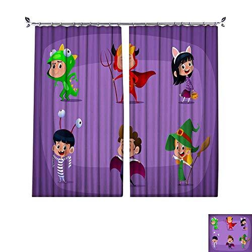 DragonBuildingMaterials Waterproof Window Curtain Group of Kids in