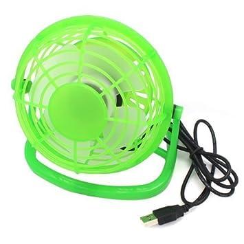 Accessotech Mini USB portátil Potencia Escritorio Mesa De Enfriamiento Ventilador Ordenador PC portátil Tranquilo - Verde: Amazon.es: Hogar