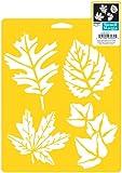 Delta Creative Stencil Mania Stencils, 7 by 10-Inch, More Leaves