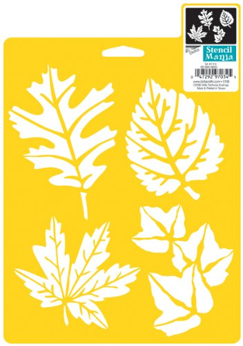 Stencil Leaf - Delta Creative Stencil Mania Stencils, 7 by 10-Inch, SM97-0860 More Leaves