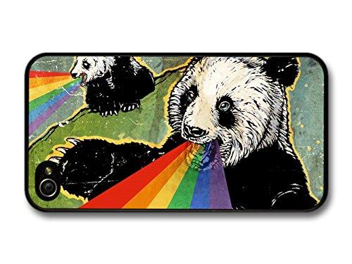 Panda Bears Puking Rainbow Illustration coque pour iPhone 4 4S