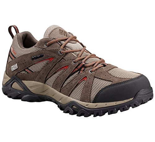 Columbia Mens Grand Canyon Outdry Scarpa Trekking Ghiaia, Falò