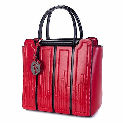 Gris Bag Mujer para Crossbody Bolso rojo Shoulder Bandolera Fxqzq7Y