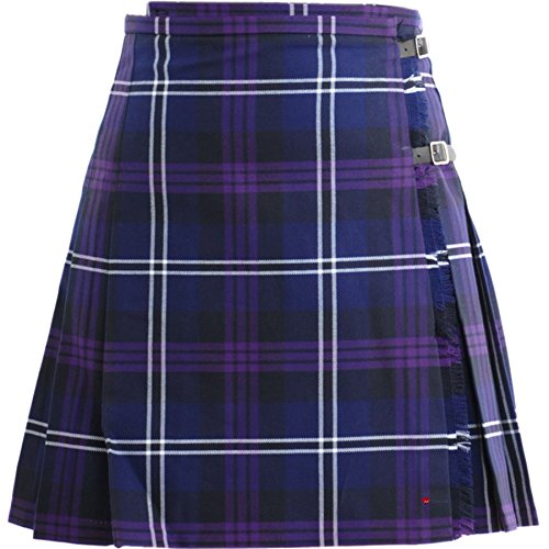 (iLuv Ladies Deluxe Mini Skirt Kilt Heritage of Scotland Tartan UK 16)