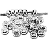 Image of Spacer Beads and Charms for European Style Charm Bracelets - Platinum and Silver Spacers