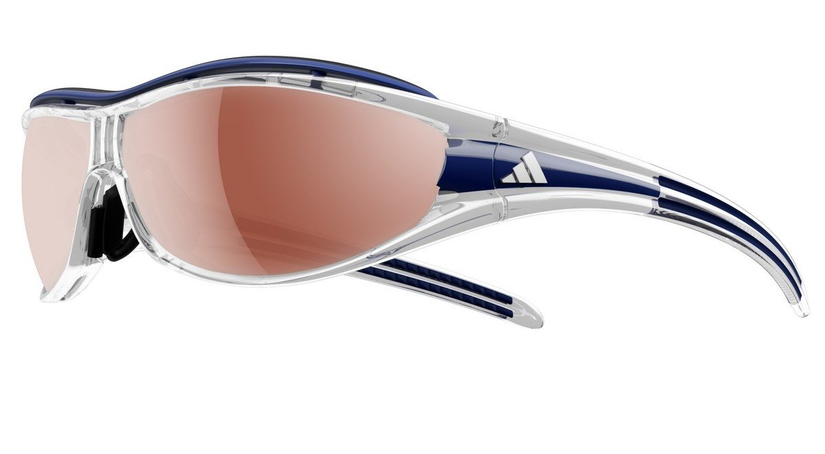 Adidas A127/00 6079 Race Transparent Dark Blue Evil Eye Pro S Wrap Sunglasses G