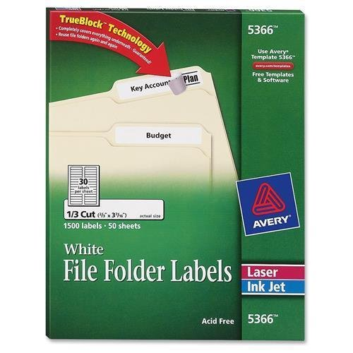 Amazon 5366 avery filing label 066 width x 343 033 5366 avery filing label 066quot width x 343quot 033quot length maxwellsz