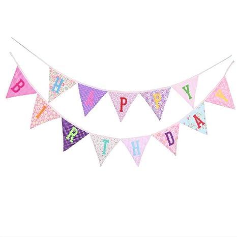 Amazon.com: Bandera de triángulo de algodón con patrón de ...