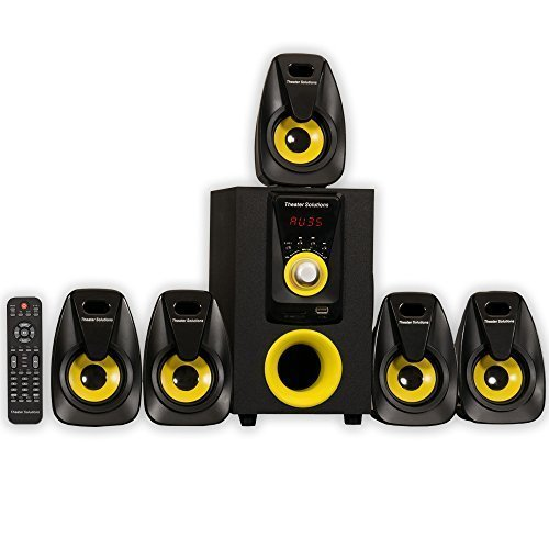 Theater Solutions by Goldwood 5.1 Speaker System 5.1-Channel Home Theater Speaker System, Black (TS522) by Theater Solutions