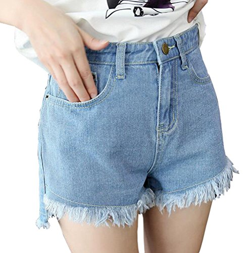動機付けるあごためらう雲の花 女性の夏 ハイウエストのカウボーイ?ショートパンツ タッセルショートパンツ