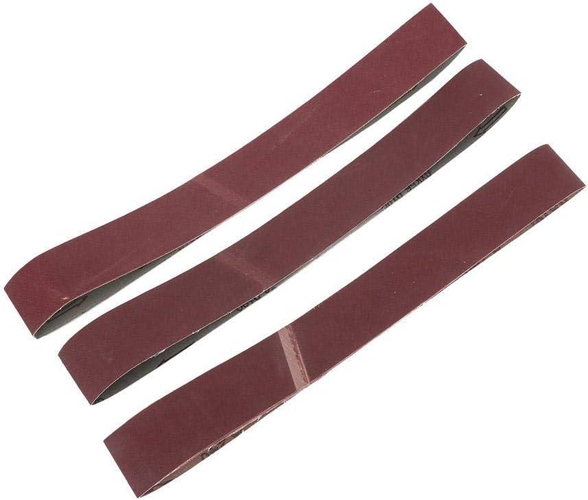10PCS 120-240 Grit GXK51-B Alumina Abrasive Belt 362 Inch Sanding Band Sets Wood Furniture Grinding Polishing Tool 180Grit