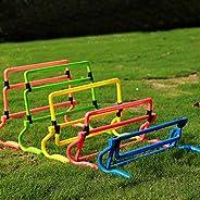 Speed Hurdles Set, 5Pcs Height Adjustable Agility Hurdles Football Training Hurdles Agility Speed Training Equ