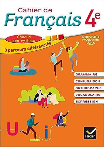Cahier de Français 4e éd. 2016 - Cahier de l'élève