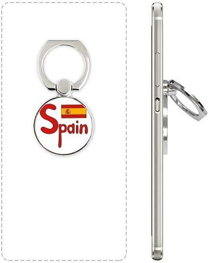 DIYthinker España Red Bandera Nacional Anillo de teléfono Celular ...