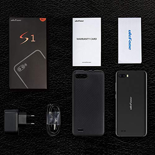 Gallity Ulefone S1 4G Smartphone Pro Mobile Phone 5.5 inch 18:9 MTK6739 Quad Core 1GB RAM 16GB ROM 13MP+5MP Face Unlock Android 8.1 (Black) by Gallity (Image #4)
