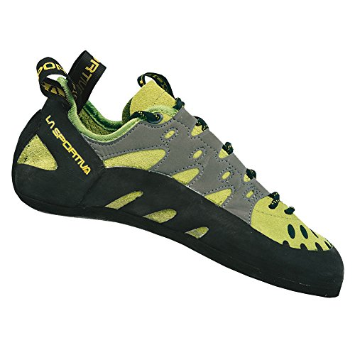 La Sportiva Men's TarantuLace Performance Rock Climbing Shoe, Kiwi/Grey, 42 M EU