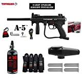 MAddog Tippmann A5 A-5 w/Selector Switch E-Grip Advanced Paintball Gun Package - Black