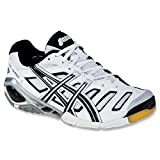 ASICS Women's GEL-GEL-Sensei 4 Volleyball Shoe,White/Black/Silver,9 M US