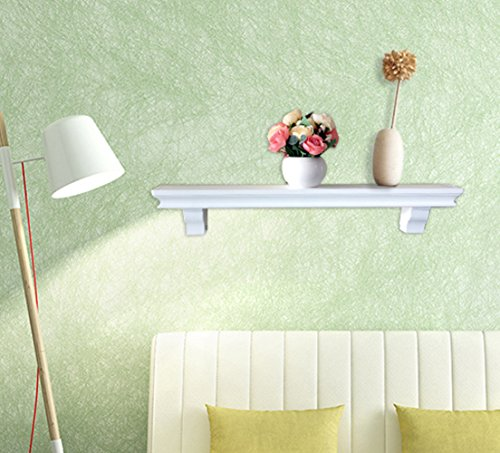 SHELVING SOLUTION Set of 2 Floating Wall Shelf (White)