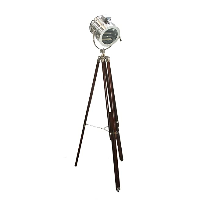 INSPIRED LIVINGG Adjustable Brown Tripod Floor Lamp Floor Lamps at amazon